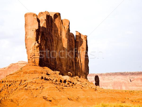 Teve óriás homokkő képződmény természet tájkép Stock fotó © meinzahn