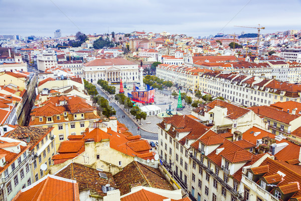Portugal. Panorama of Lisbon from a viewing point of Santa Justa Stock photo © meinzahn