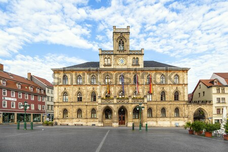 Town hall Weimar in Germany, UNESCO World Heritage Site  Stock photo © meinzahn