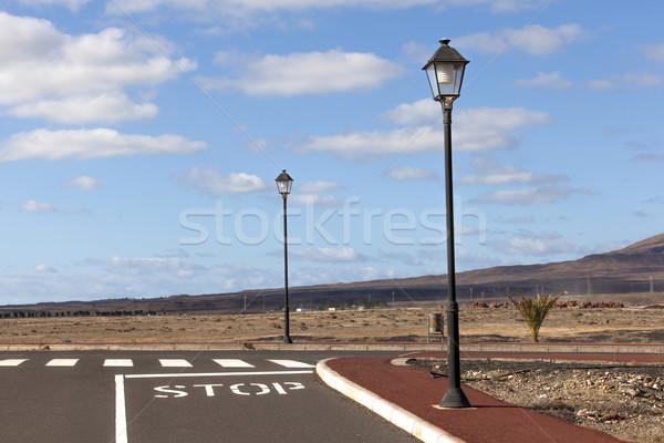 új utak fejlesztés út építkezés felirat Stock fotó © meinzahn