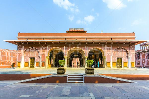 Cidade palácio Índia assento cabeça clã Foto stock © meinzahn