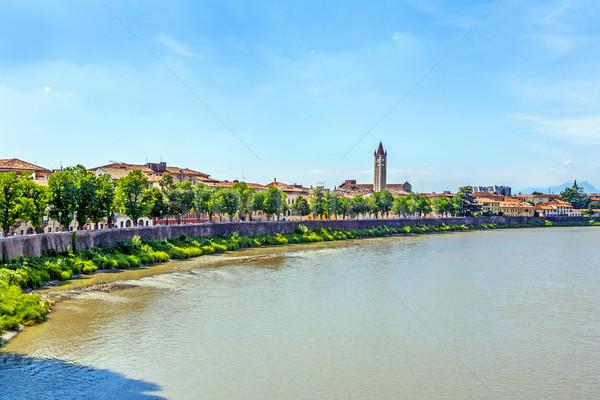 view to Verona with river Adige Stock photo © meinzahn