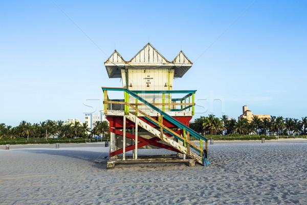 życia straży wieża południe plaży Miami Zdjęcia stock © meinzahn