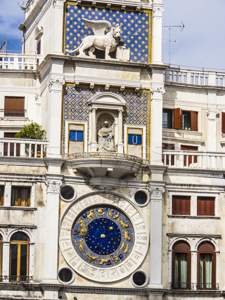 clock tower on the Piazza San Marco in Venice Stock photo © meinzahn