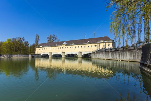 Historic weir at the river Isar  in Munich  Stock photo © meinzahn