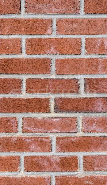 Velho vintage parede de tijolos harmônico padrão vermelho Foto stock © meinzahn