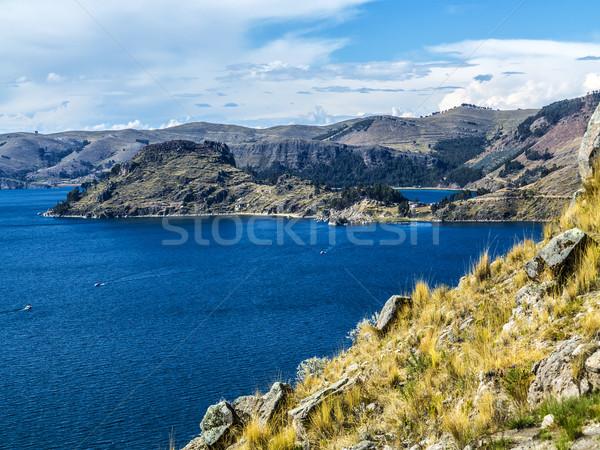 Isla del Sol in Titicaca lake, Bolivia Stock photo © meinzahn