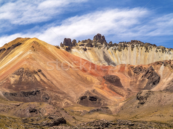 beautiful   crater of Volcano Tunupa in Bolivia Stock photo © meinzahn