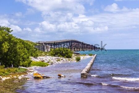 Velho ferrovia ponte chave Flórida teclas Foto stock © meinzahn
