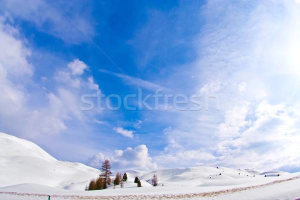 山 合格 イタリア 雪 背景 山 ストックフォト © meinzahn