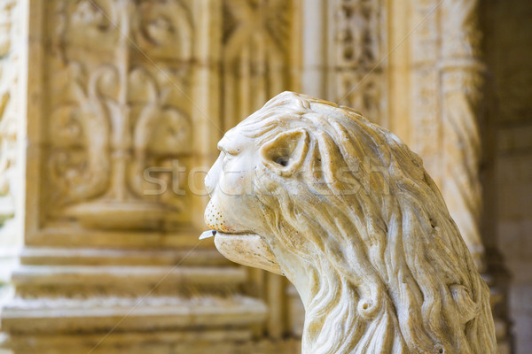 the water lion in the beautiful Jeronimos Monastery in Lisbon Stock photo © meinzahn