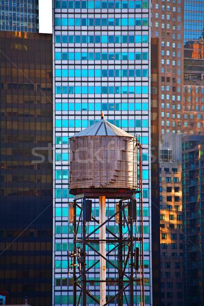 old wooden water tower  Stock photo © meinzahn