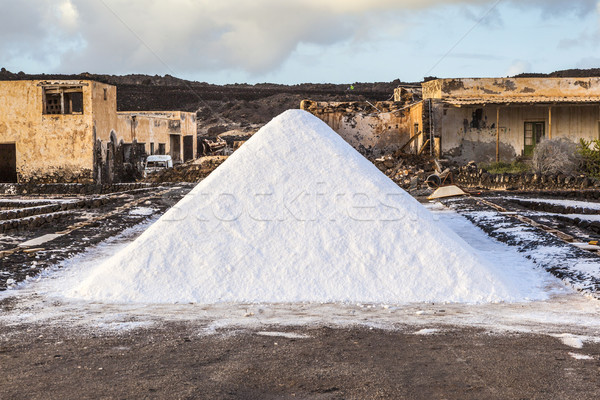 Salt refinery, Saline from Janubio, Lanzarote, Spain Stock photo © meinzahn