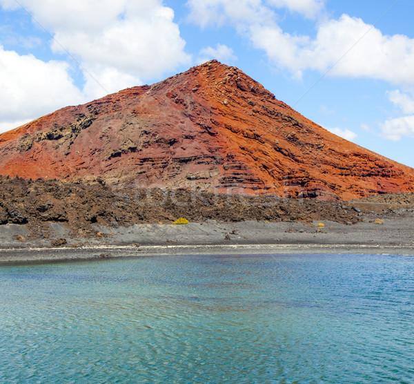 Vulkán park Spanyolország tengerpart felhők természet Stock fotó © meinzahn