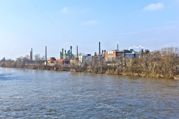 old chemical plant at river Main in Frankfurt Stock photo © meinzahn