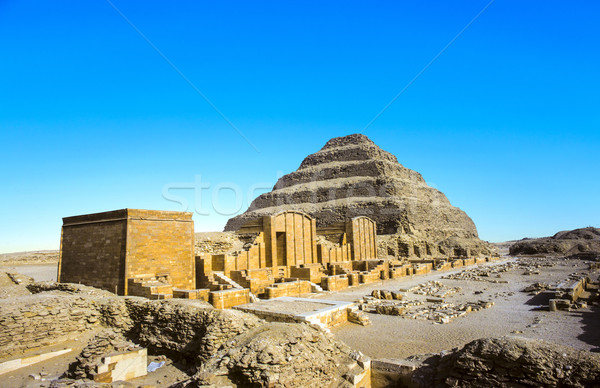 Pyramid of Djoser in the Saqqara necropolis, Egypt. UNESCO World Stock photo © meinzahn