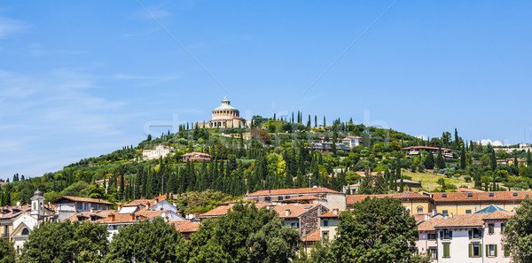 Sanctuary of the Madonna of Lourde, Verona, Italy on a hill Stock photo © meinzahn