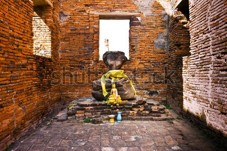 boy taking picture inside the famous temple area Wat Phra Si San Stock photo © meinzahn