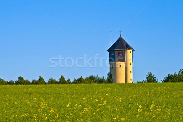 watertower with rape fields  Stock photo © meinzahn