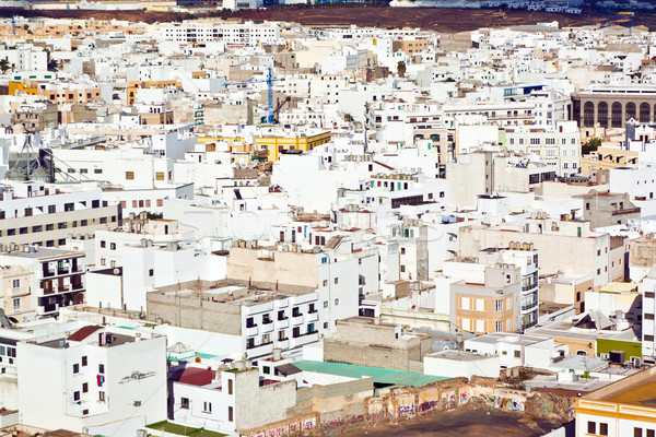 white houses in Arrecife, lanzarote Stock photo © meinzahn