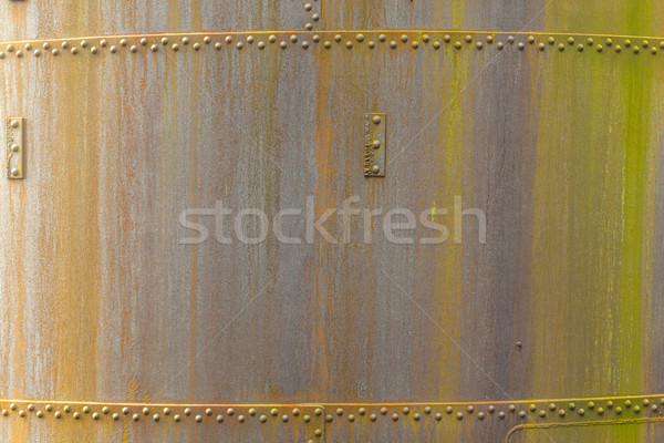Minta rozsdás fém öreg kémény absztrakt Stock fotó © meinzahn