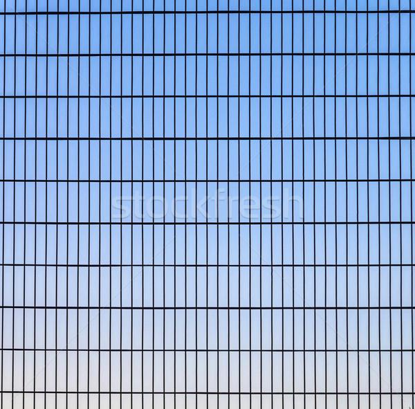 フェンス グリッド 構造 青空 空 青 ストックフォト © meinzahn