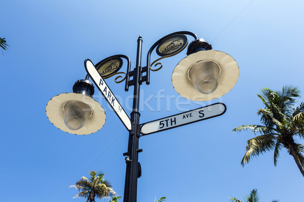 historical street sign in Naples, Florida  Stock photo © meinzahn