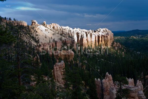 Zandsteen canyon mooie landschap steen Stockfoto © meinzahn