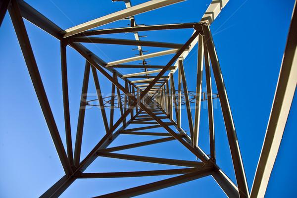 Elektromosság torony energia gyönyörű tájkép bent Stock fotó © meinzahn