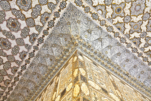 Interior âmbar forte palácio Índia parede Foto stock © meinzahn