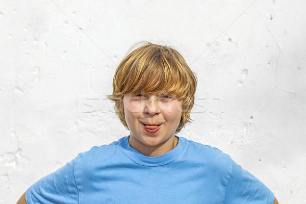 portrait of cute young boy Stock photo © meinzahn