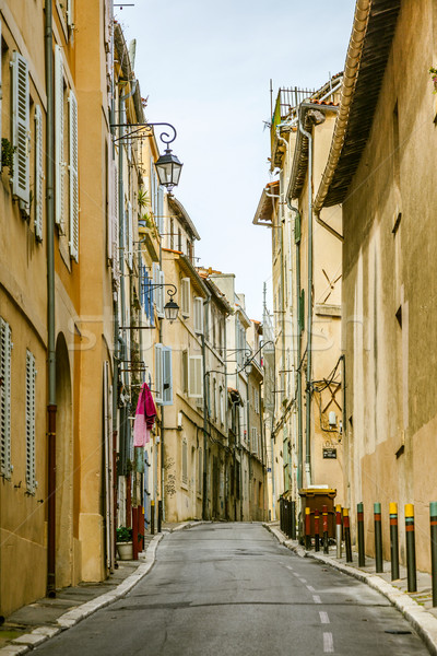 View of the historic quarter Le Panier in Marseille in South Fra Stock photo © meinzahn