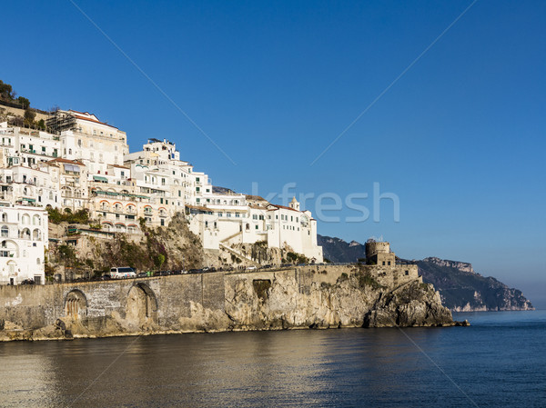 View of the coast of the resort town of Amalfi Stock photo © meinzahn