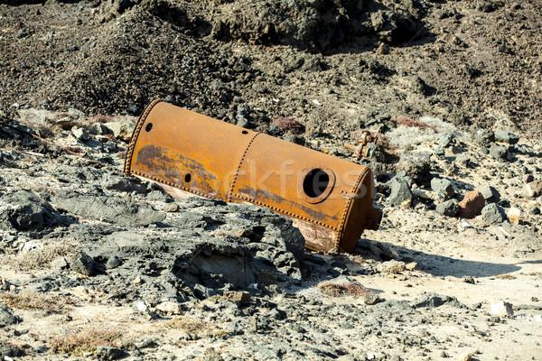 Eski tuz pompa rafineri su Stok fotoğraf © meinzahn