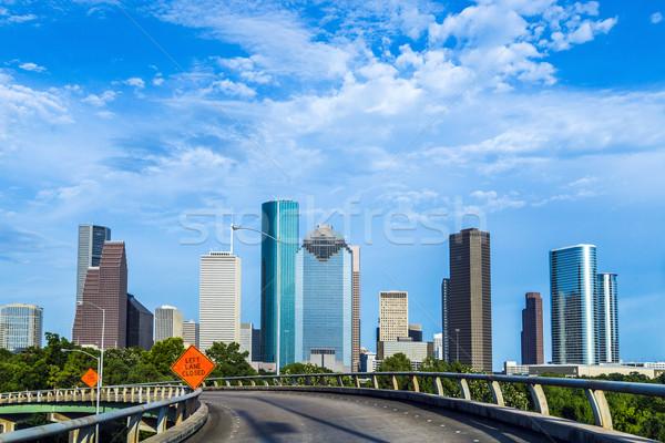 Városkép Houston késő délután fény iroda Stock fotó © meinzahn