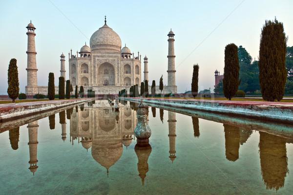 Taj Mahal Inde architecture blanche marbre Asie Photo stock © meinzahn
