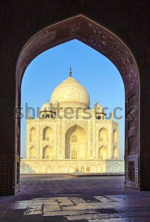 Тадж-Махал Индия арки вход ворот синий Сток-фото © meinzahn