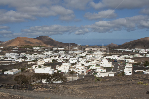view to Uga, rural village in Lanzarote Stock photo © meinzahn