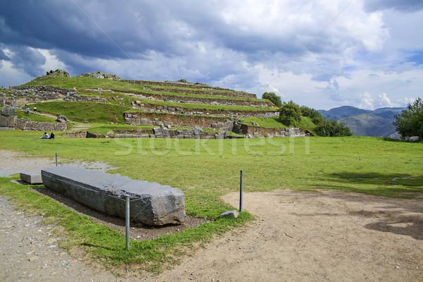 Muren oude inca Peru stad Stockfoto © meinzahn