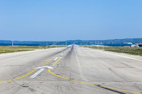 Beton kifutópálya Marseille repülőtér Franciaország Stock fotó © meinzahn