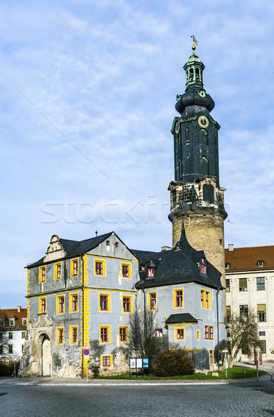 Città castello cielo blu Germania panorama finestra Foto d'archivio © meinzahn