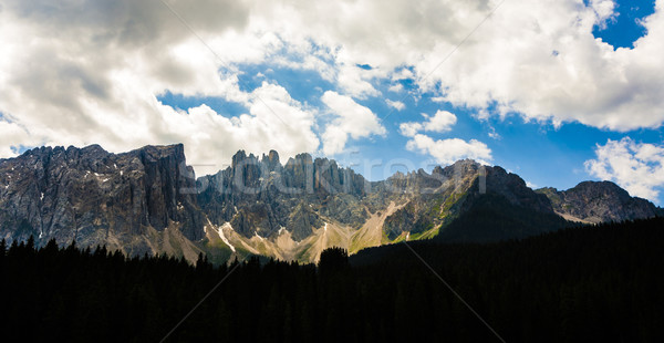 mountains at Latemar massif at Dolomites in the Alps Stock photo © meinzahn