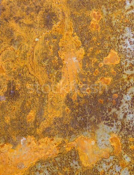 Metal pas parlak güneş eski duvar Stok fotoğraf © meinzahn