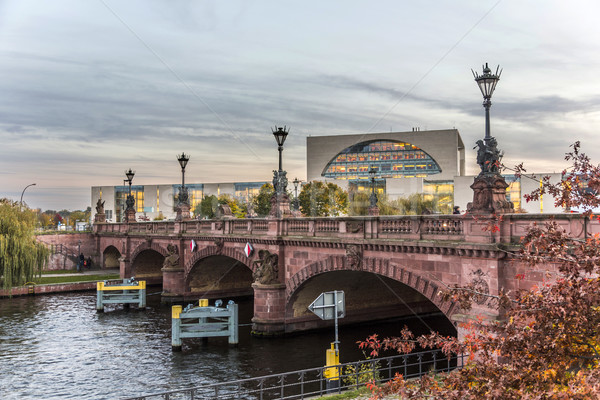 historic sandstone Moltke Bridge in Berlin Stock photo © meinzahn