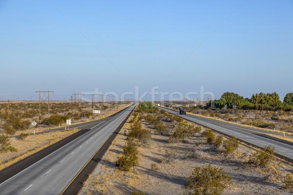 Autostrady międzypaństwowy pustyni ulicy metal przemysłowych Zdjęcia stock © meinzahn