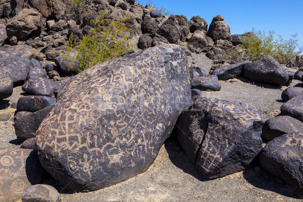 Petroglyph Site, Near Gila Bend, Arizona Stock photo © meinzahn