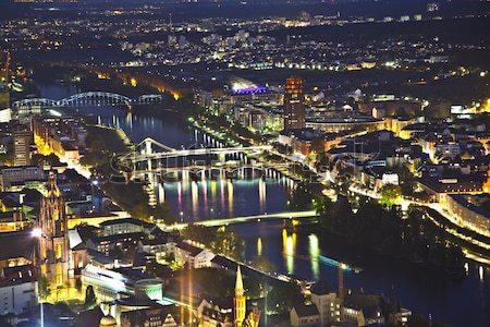 Frankfurt hoofd- nacht bruggen Stockfoto © meinzahn