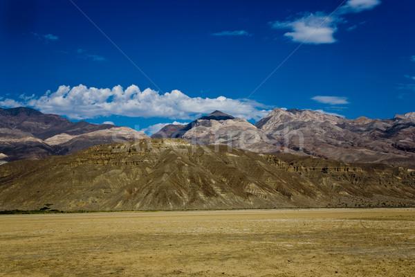 Vue séché sel voir lac montagnes Photo stock © meinzahn