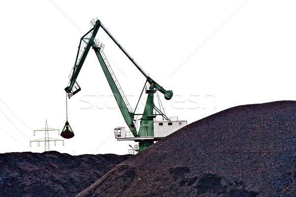 Charbon colline énorme modèle travail jouet Photo stock © meinzahn