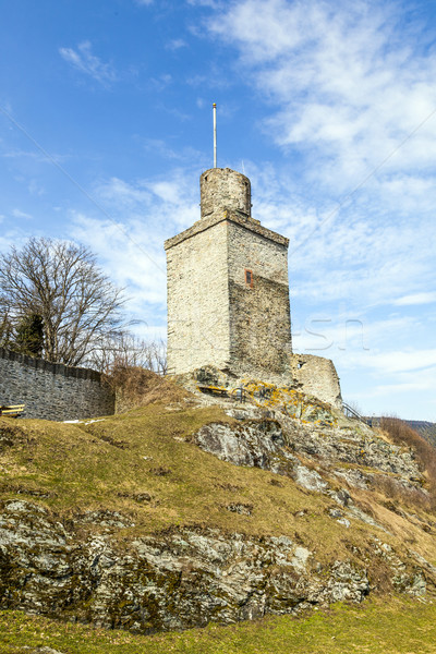 old Falkenstein castle under clear blue sky Stock photo © meinzahn